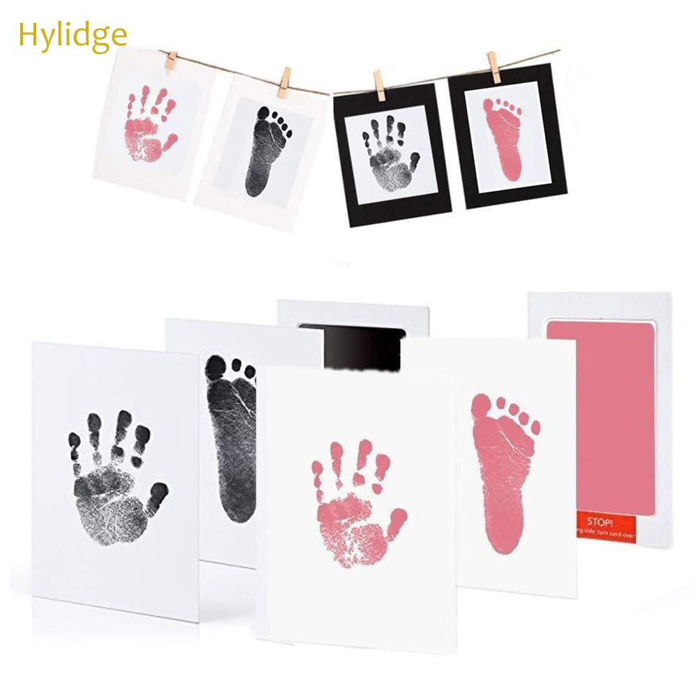 S/L No Mess Ink Footprint Pad Kit 0-12 months No Touch Skin Inkless Baby Handprint Footprint Pad Newborn Souvenir for Pet Dog