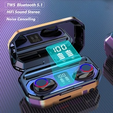 M15 TWS Wireless Bluetooth Earphones 9D Stereo HIFI Headset LED Display Noise-canceling Music Sports