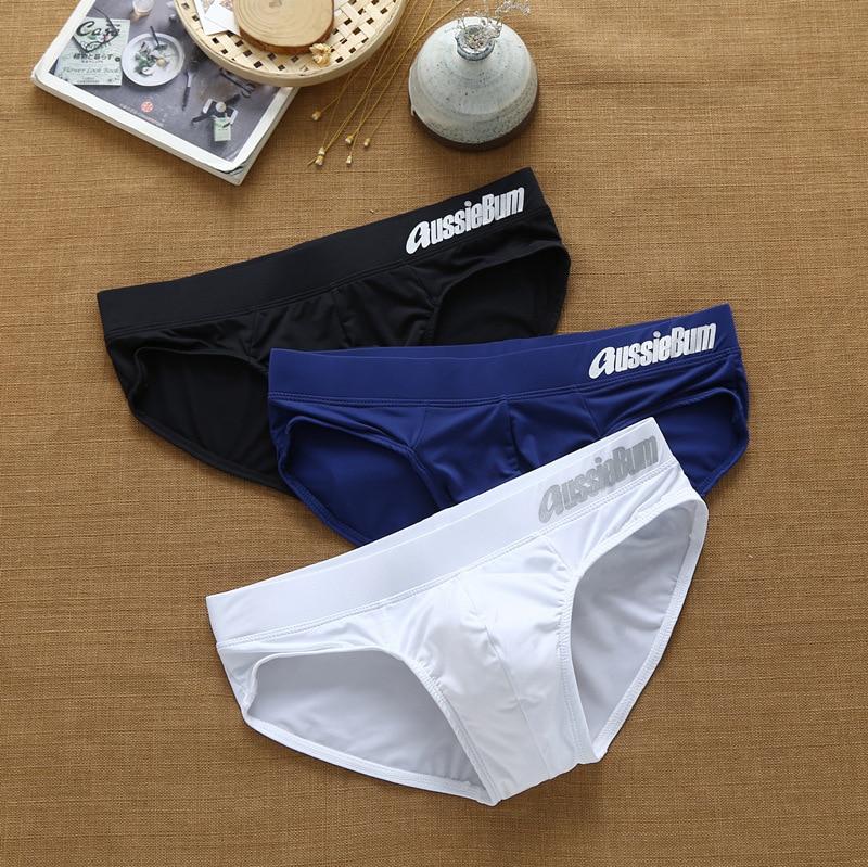 Men's briefs milk silk low waist elastic stereo comfort aussiebum