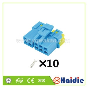 2sets 10pin auto plastic housing plug cable wiring harness connector 7123-1700