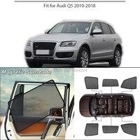 Car Full Side Windows Magnetic Sun Shade UV Protection Ray Blocking Mesh Visor For Audi Q5