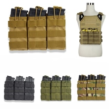싱글/더블/트리플 오픈 탑 밀리터리 에어 소프트 전술 M4 매거진 파우치 AK AR M4 AR15 라이플 매거진 파우치