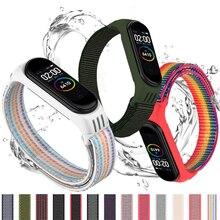 Correa de nailon para xiaomi mi band 4 y 3, pulsera deportiva para reloj inteligente xiaomi mi band 6 y 5