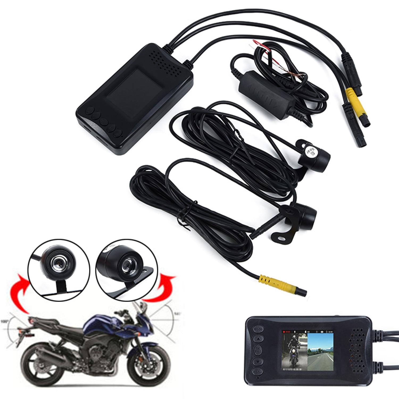 Cámara Dual de 1080P de 3 , grabador trasero delantero de vídeo DVR para motocicleta, cámara de salpicadero automático, videocámara de conducción tacógrafo