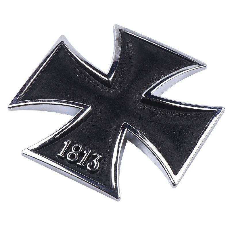 Черный, серебряный, 1813, немецкий, железный, для кросса, для автомобиля-Стайлинг, 3D, хромированный, металлический, Мальта, добродетель, кросс, автомобильные наклейки, декоративные эмблемы