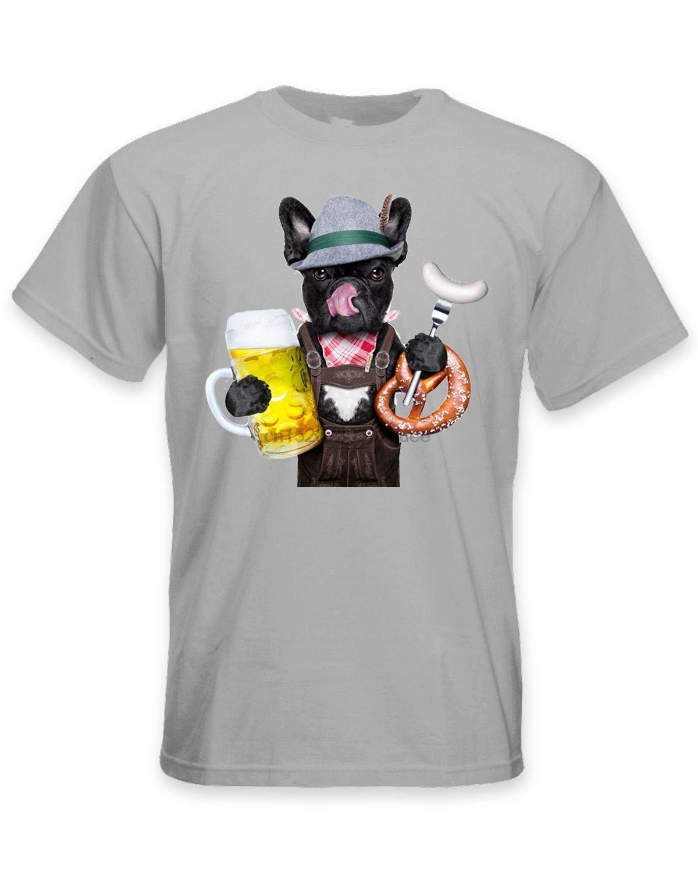 Bulldog Francés Baviera Cerveza Estilo hombres camiseta-divertido perro Toro mascota 100% de algodón nuevas camisetas