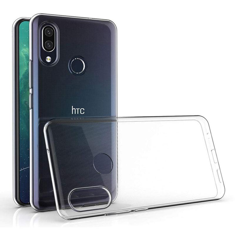 Fundas de silicona transparentes para HTC U19E, funda trasera de teléfono móvil de TPU suave 360, carcasa protectora a prueba de golpes HTCU19E 2019, bolsas transparentes