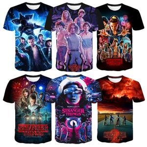 Hit TV Series Stranger Things Season 3 T Shirt For Teen Girls Clothes Parent-child Outfit femme Shirts Kids Baby Girls Clothing