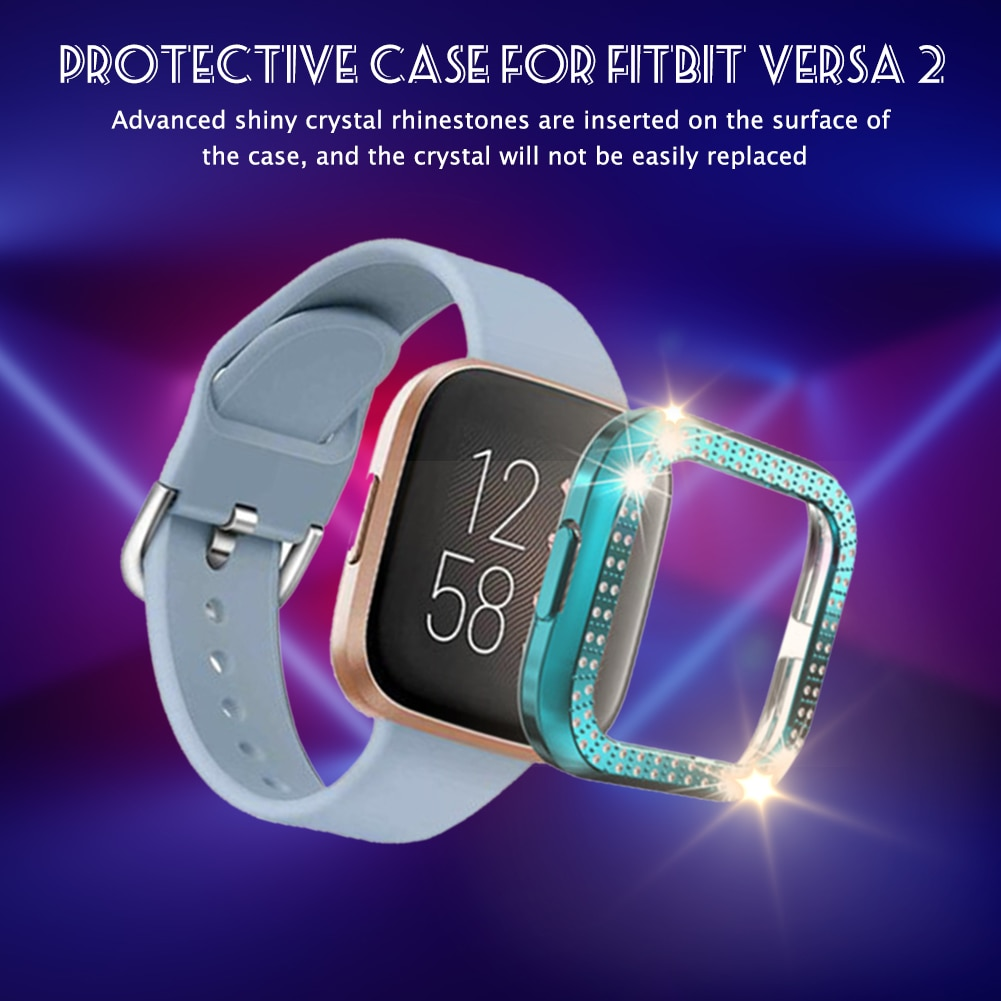 Protective Case Scratchproof Screen Protector Crystal Rhinestone Bumper PC Protective Cover Smart Wearable Accessories