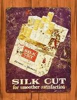 tin sign silk cut tobacco cigarette benson hedges rustic wall decor wall decor metal farmhouse decor room decoration men