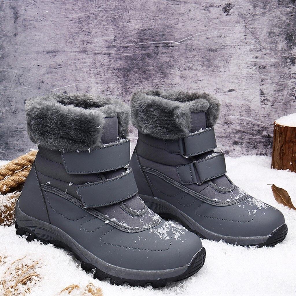 2019 nuevas botas de invierno para mujer con cordones botas de nieve de alta calidad botas de tobillo para mujer zapatos de nieve de moda #930