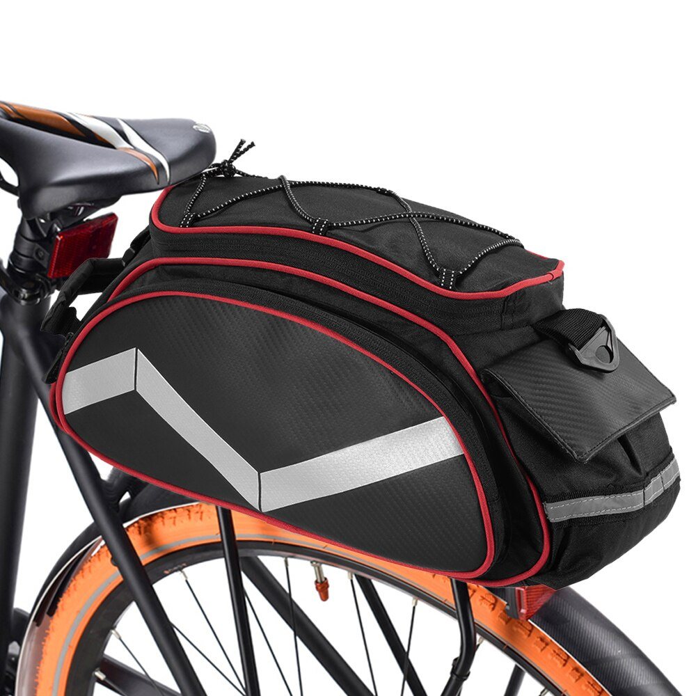 Lixada-bolsa para bicicleta de 13l, rejilla de almacenamiento para equipaje, cesta para bicicleta de montaña y carretera, bolsa de mano, bolsa para maletero