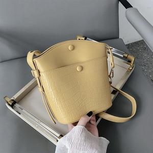 Small Bucket Bags for Women 2021 Fashion Stone Pattern Crossbody Bags Women's Handbag Luxury Designer Shoulder Bag Female Purse