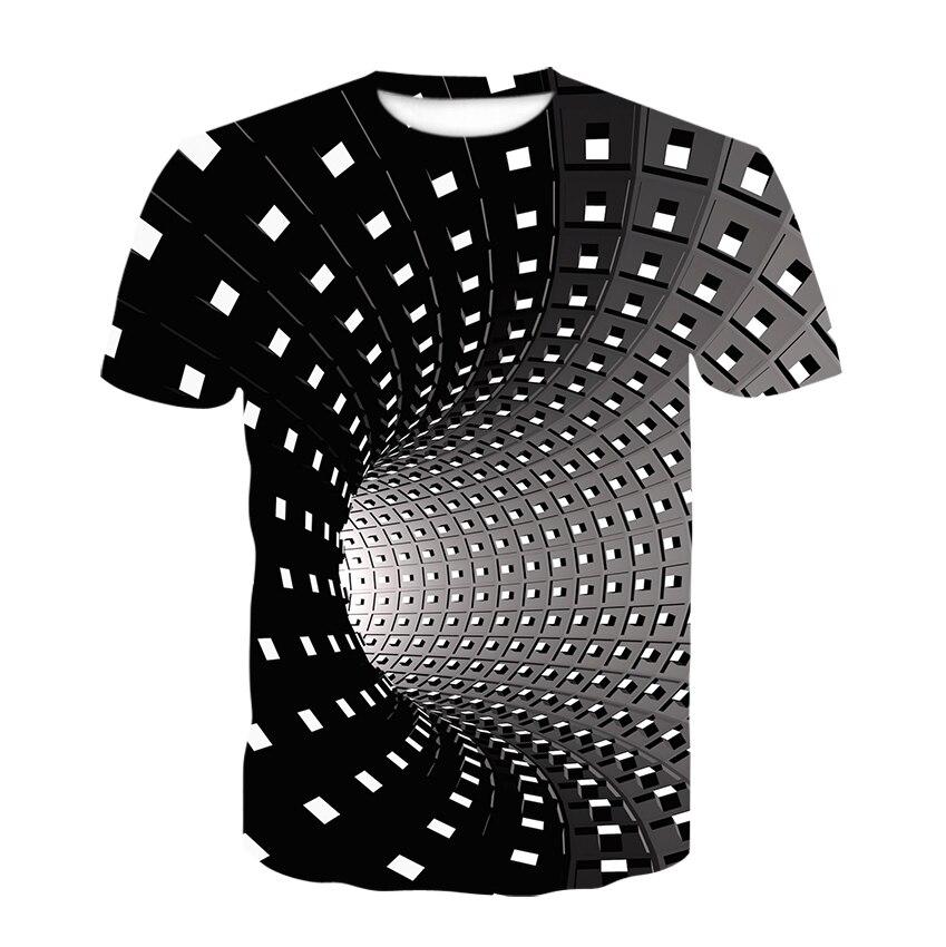 Футболка мужская с круглым вырезом, рубашка с коротким рукавом, Повседневная модная удобная уличная одежда, Swirl 3