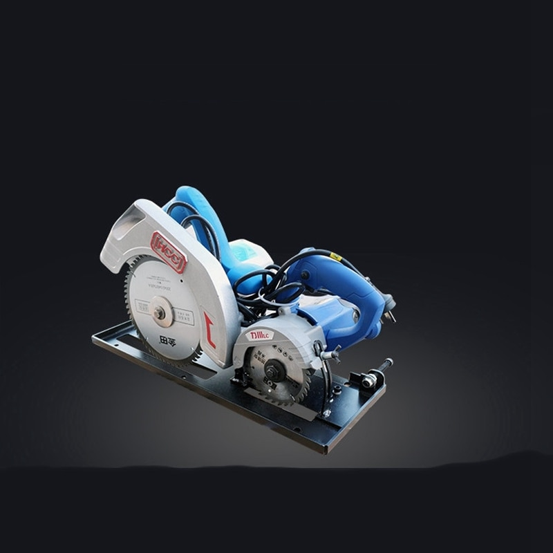 Large and small double saw blade electric saw woodworking table saw master saw dust-free saw flip precision saw enlarge