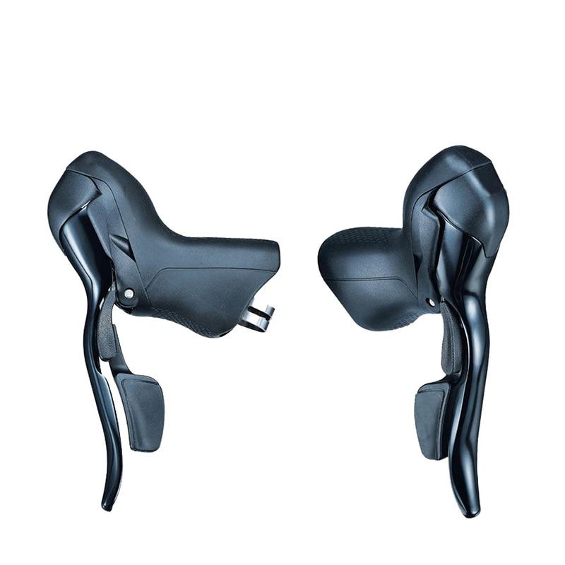 Para Microshift STI caja de cambios de bicicleta de carretera doble viaje 7/8/9/10 palanca de velocidad freno bicicleta desviador Groupset Compatible para Shimano
