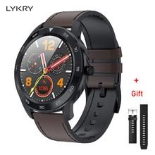 LYKRY DT98 Smart Watch Pantalla Completa táctil Bluetooth 1,3 pulgadas Dial de llamada EEG pulsómetro Monitor de presión arterial IP68 impermeable