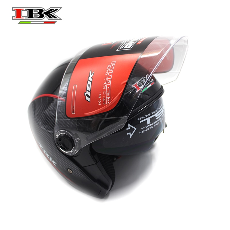 IBK Anti-UV Open Face Motorbike Helmet Electric Bicycle Casco Casque Unisex 3/4 Double Lens Summer Winter Helmet IBK-705 enlarge