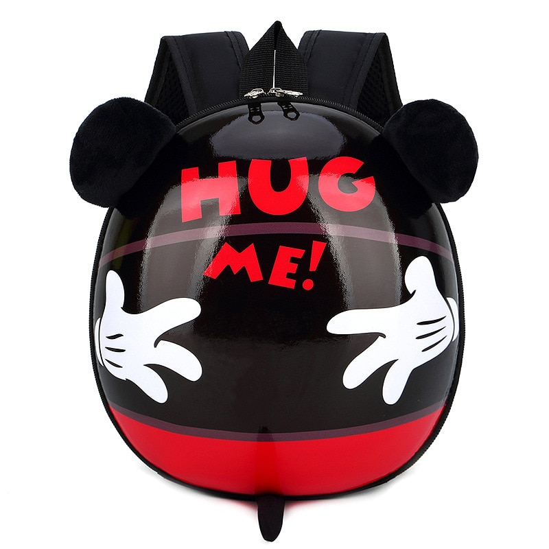 Nueva mochila escolar Disney para niños, mochila de cáscara de huevo para niño y niño, mochila bonita con dibujos de Mickey mouse, para niña pequeña