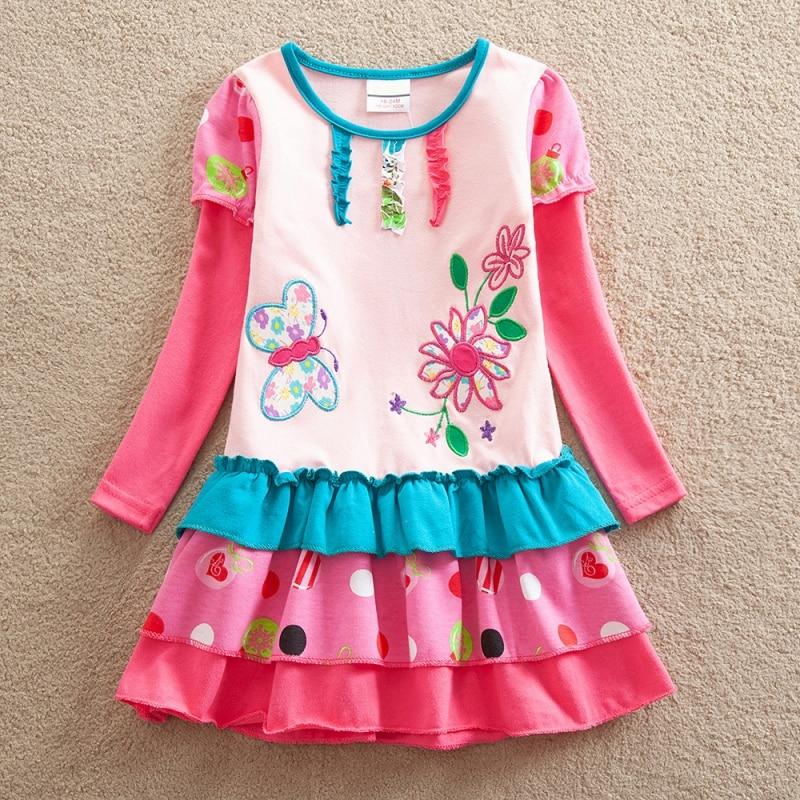 Autumn Girls Dress Kids Dresses For Girls Floral Embroidery Princess Kids Children Cartoon For Girls Kids Girls Cupcake Dress
