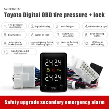 For Toyota Car Tire Pressure Monitoring System TPMS Monitor Door Automatic Lock OBD Real Time Displa