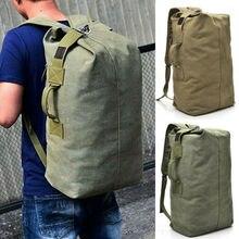 En plein air grand hommes toile sac à dos sac à dos randonnée épaule voyage Camping sac à dos militaire sacs UK