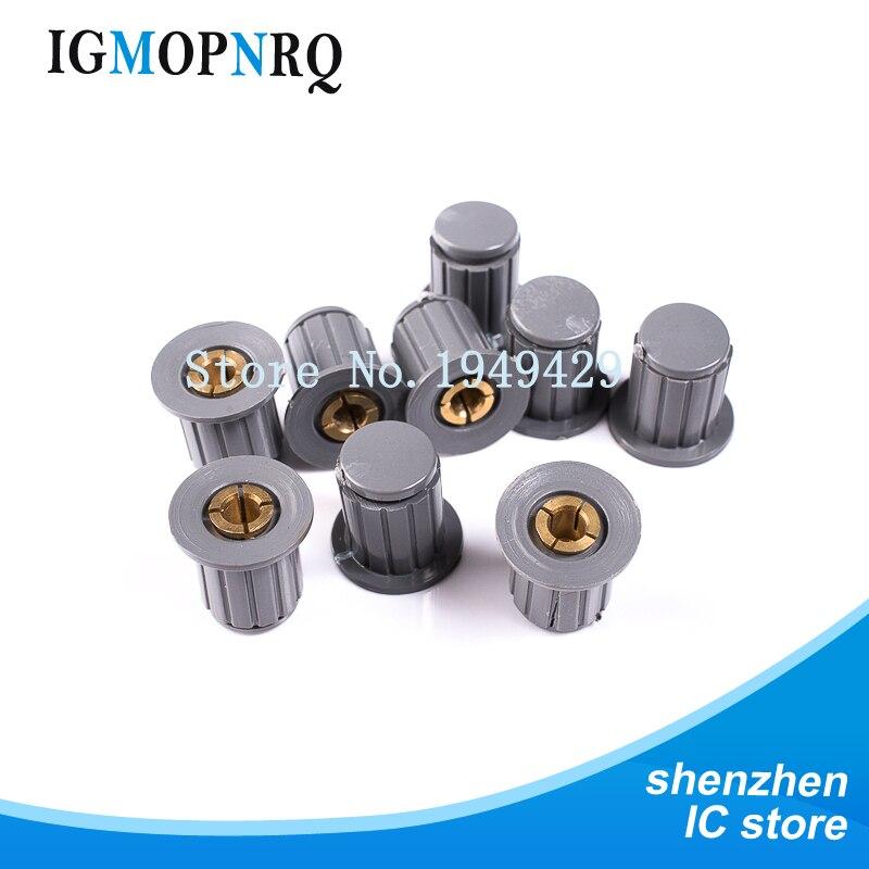 5PCS mando gris botón tapa es adecuado para alta calidad WXD3-13-2W WXD3-12 WH5-1A WX14-12 vuelta especial mando potenciómetro