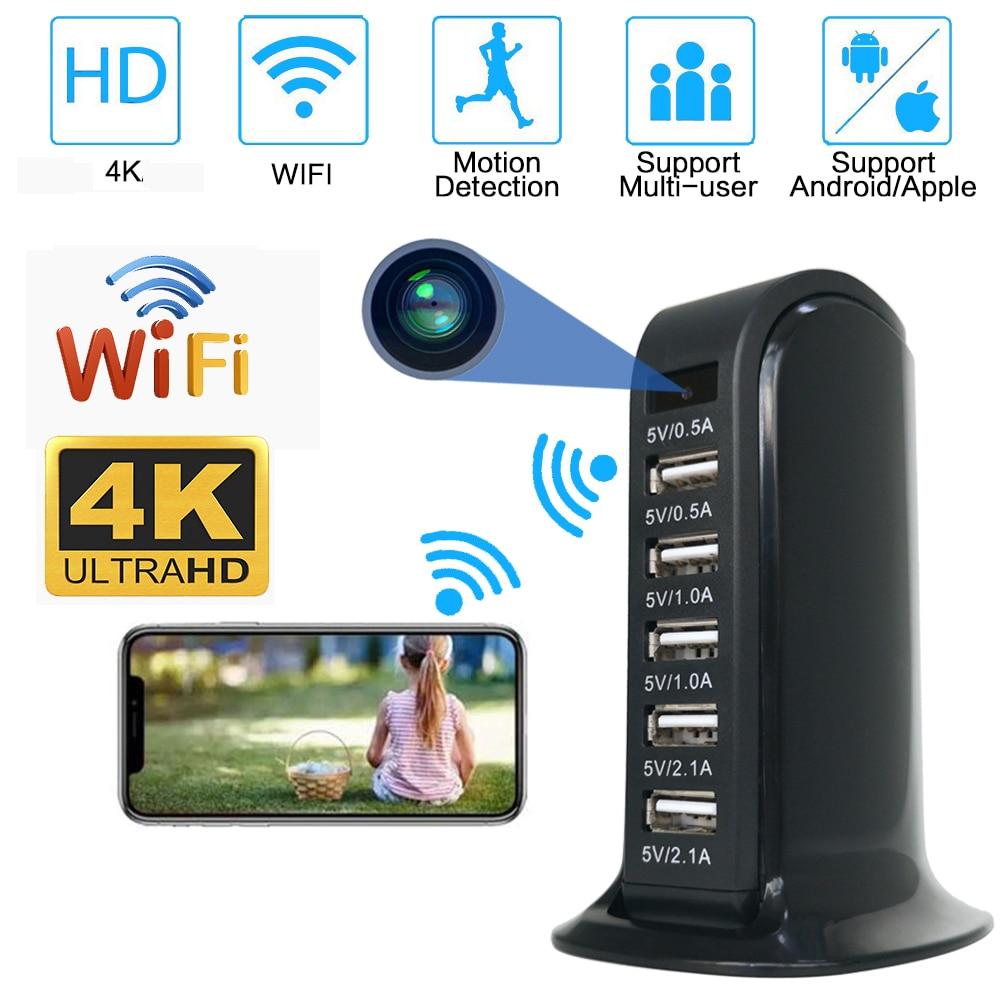 USB محول شاحن كاميرا واي فاي صغيرة 4K فائقة كاميرا IP عالية الدقة كاميرا أمان لاسلكية كاميرا مراقبة الطفل كاميرا المنزل الذكي