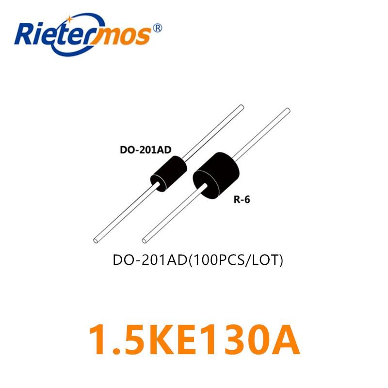 100PCS 1.5KE130A 1.5KE130CA DO-201AD HIGH QUALITY