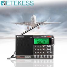 Портативная цифровая радиоколонка Retekess TR608, FM / MW/ SW/Air, с ЖК-дисплеем, будильником, таймером сна