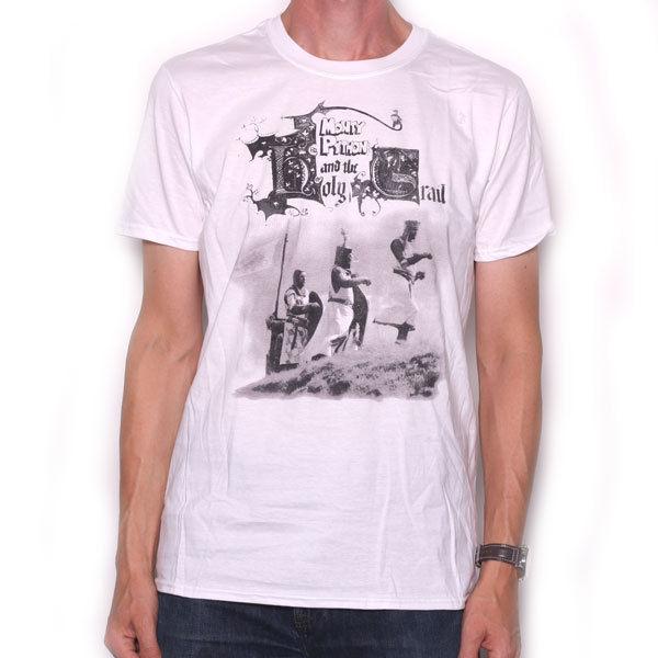 Camiseta de Monty Python-Holy Grail blanco 100% camiseta de verano con cuello redondo envío Gratis barato tee