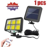 outdoor solar powered street waterproof wall lights motion sensor garden indoor security lamp remote 3 modes seperable 5m cable