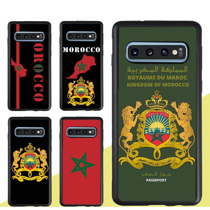 Чехол с флагом Марокко гербом для Samsung Galaxy A71 A51 A50 A70 A40 A30S A10 S20 Ultra S8 S10 S9 Plus Note 10 S10e