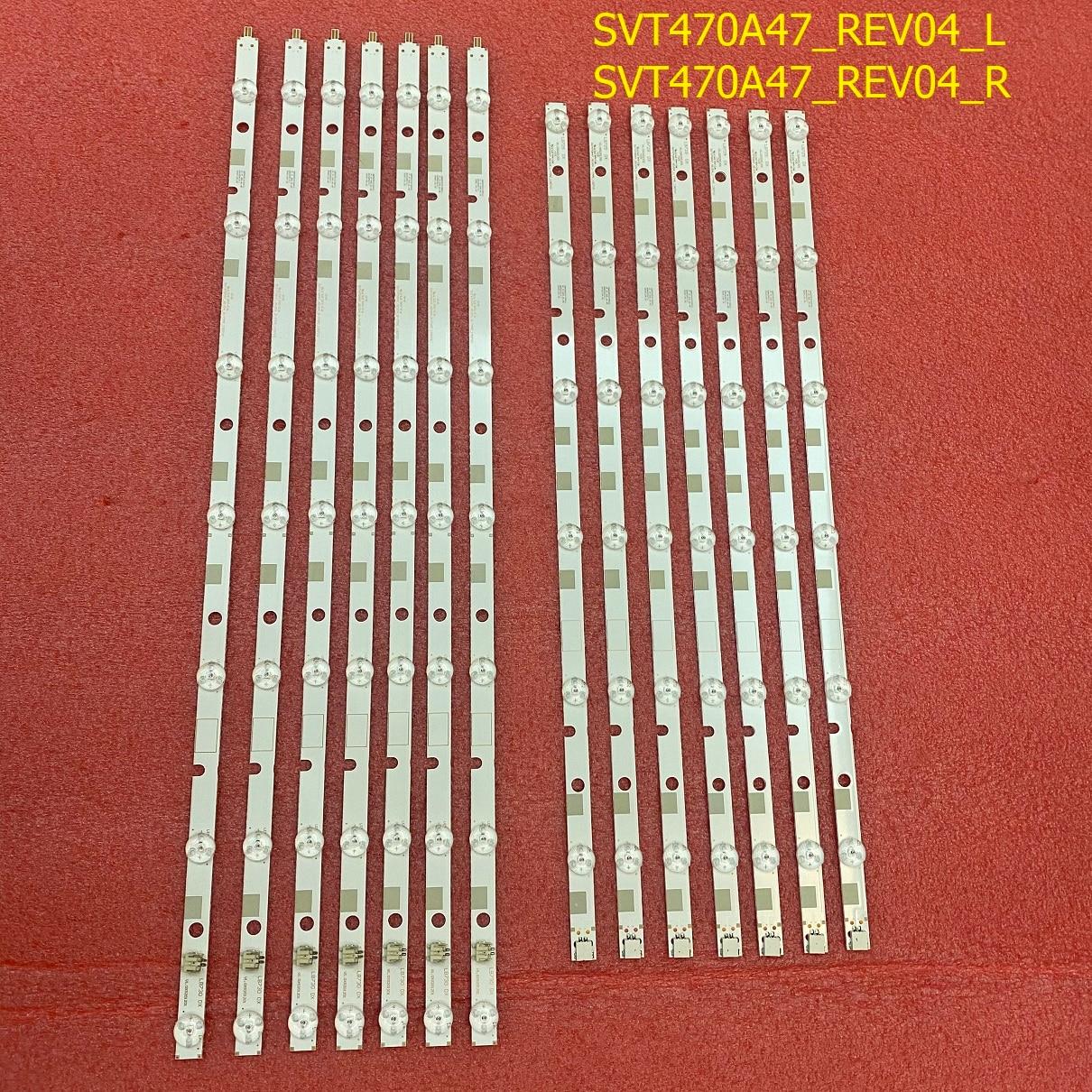 جديد 14 قطعة/المجموعة LED الخلفية قطاع لتوشيبا 47M7463D 47L7453DB 47L7453D 47L7463DG SVT470A47_REV04_L R LC470DUK SG K2