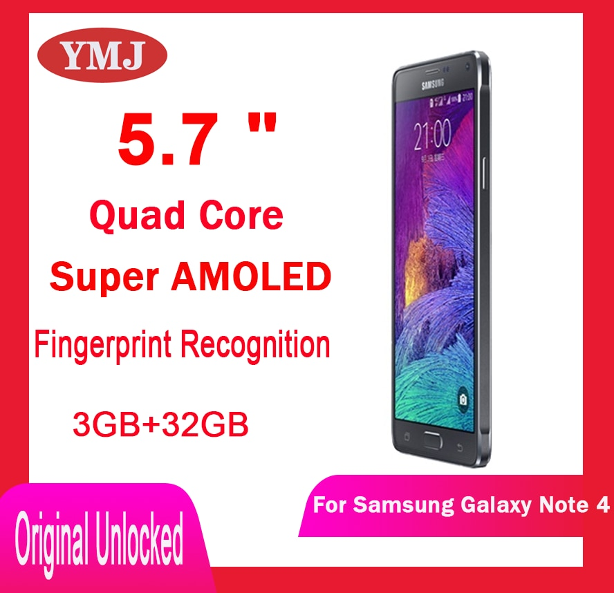 original-unlocked-used-samsung-galaxy-note-4-n910a-n910f-n910v-cell-phone-5-7-16mp-quad-core-all-tests-mobile-phone-samsung