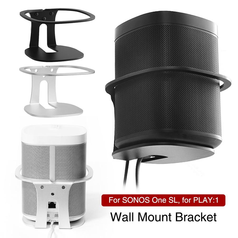 New Wall Mount Bracket Metal Wall Mount Stand Holder For SONOS One SL/PLAY:1 Black Speaker Sturdy Metal Made Mount Stand Holder