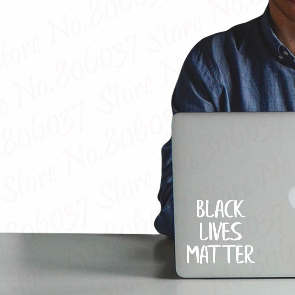 Vinilo portátil piel calcomanía arte decoración de Black Lives Matter extraíble impermeable coche parachoques DIY pegatinas de pared WL2089