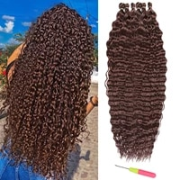 20 inch deep wave twist crochet hair african curls synthetic braid hair afro curls ombre braiding hair extensions hair expo city