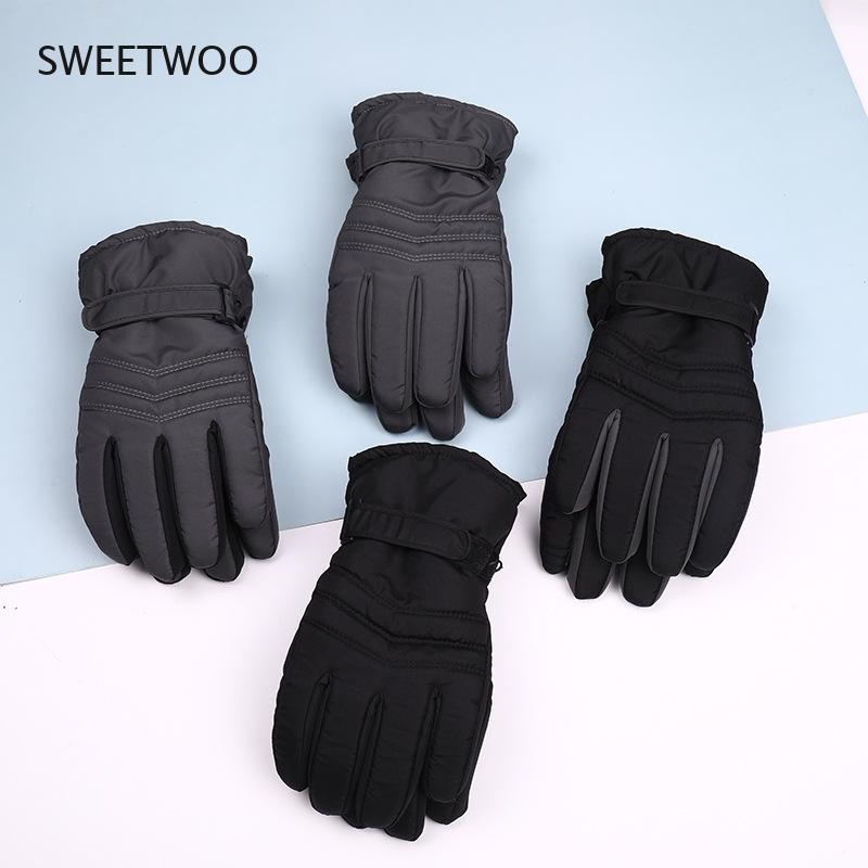 Зимние лыжные перчатки, Теплые Лыжи, сноуборд, снегоход, мотоцикл, спортивные аксессуары для женщин