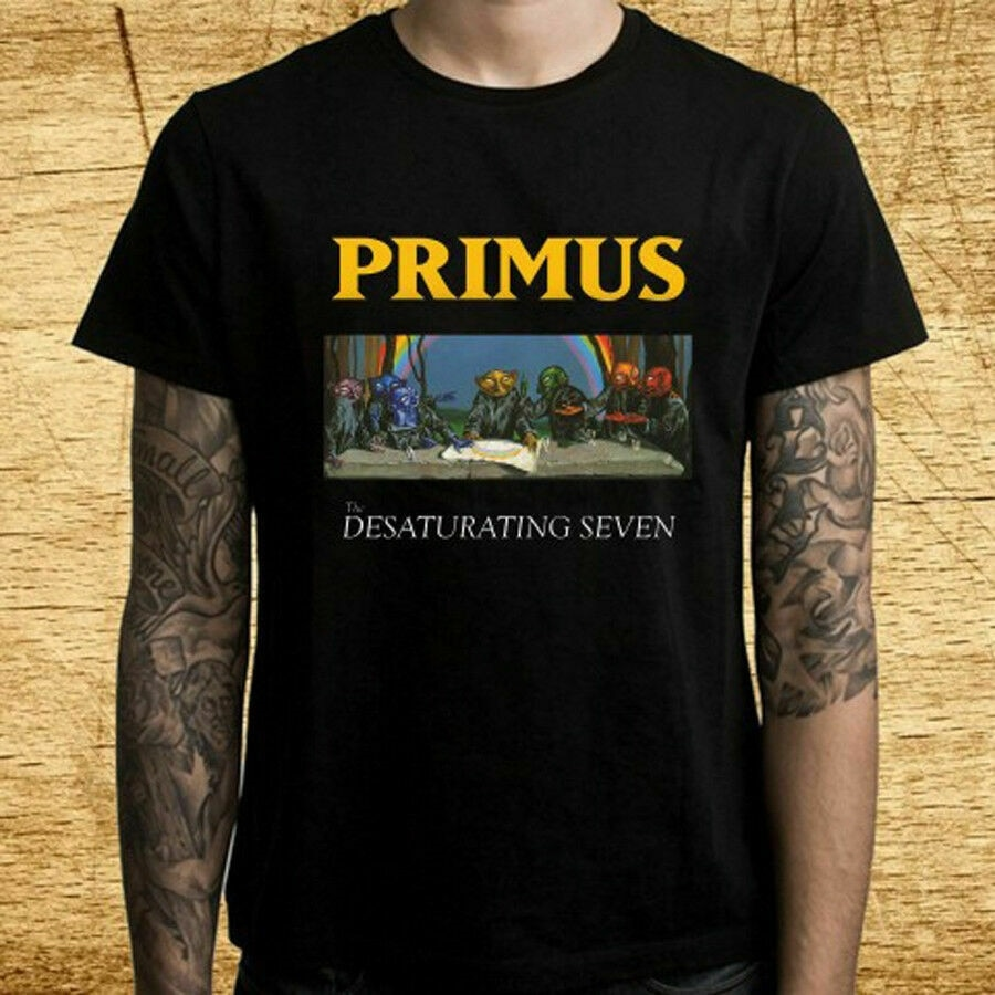 PRIMUS Desaturating siedem albumów Logo męska marka odzieżowa T Shirt