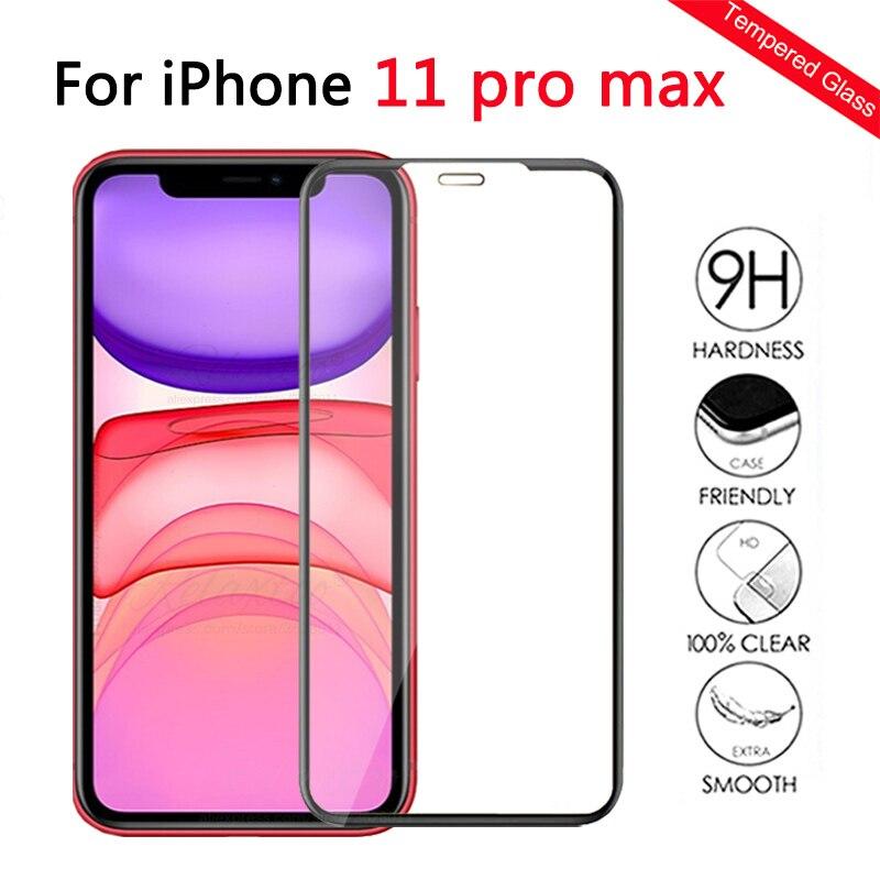 Закаленное стекло с полным покрытием для iPhone 11 phone11 pro Max, защитная пленка для экрана iphone i phone 11 pro max