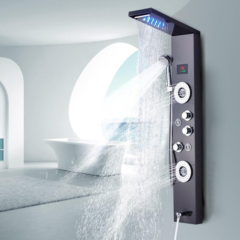 دش الإستحمام مع ضوء LED, دش يدوي للإستحمام