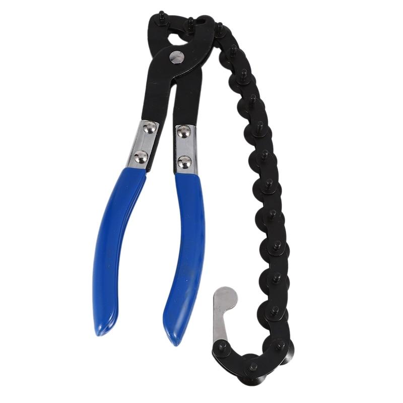 Cortador de tubo de escape de cadena, 15 ruedas de corte, cortador de tubo de cuchilla para escape automotriz y cortador de cadena para tubo de escape