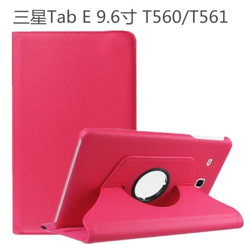 Funda inteligente de piel giratoria de 360 grados para Samsung Galaxy Tab E 9,6 T560 T561 SM-T560 Sleep Cover Funda