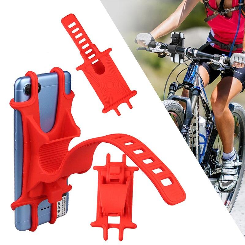 Soporte de teléfono Quad lock, soporte de bicicleta de silicona, soporte de bicicleta MTB GPS, soporte de navegación móvil para IPhone Samsung xiaomi