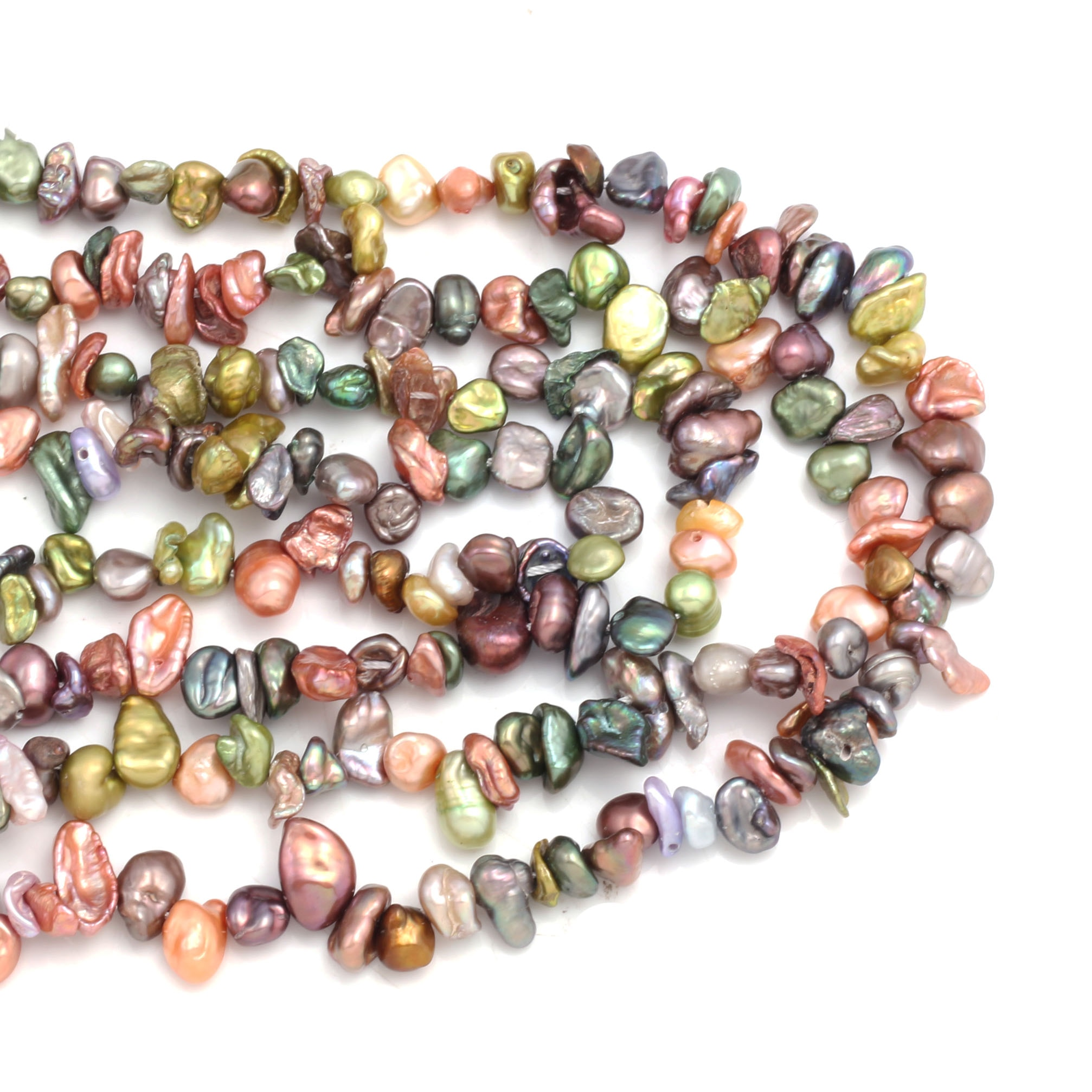 6-8mm Natural Reborn Keshi Colorful Freshwater Pearl Beads Irregular Real Pearls for DIY Charm Necklace Bracelet Jewelry Making  - buy with discount