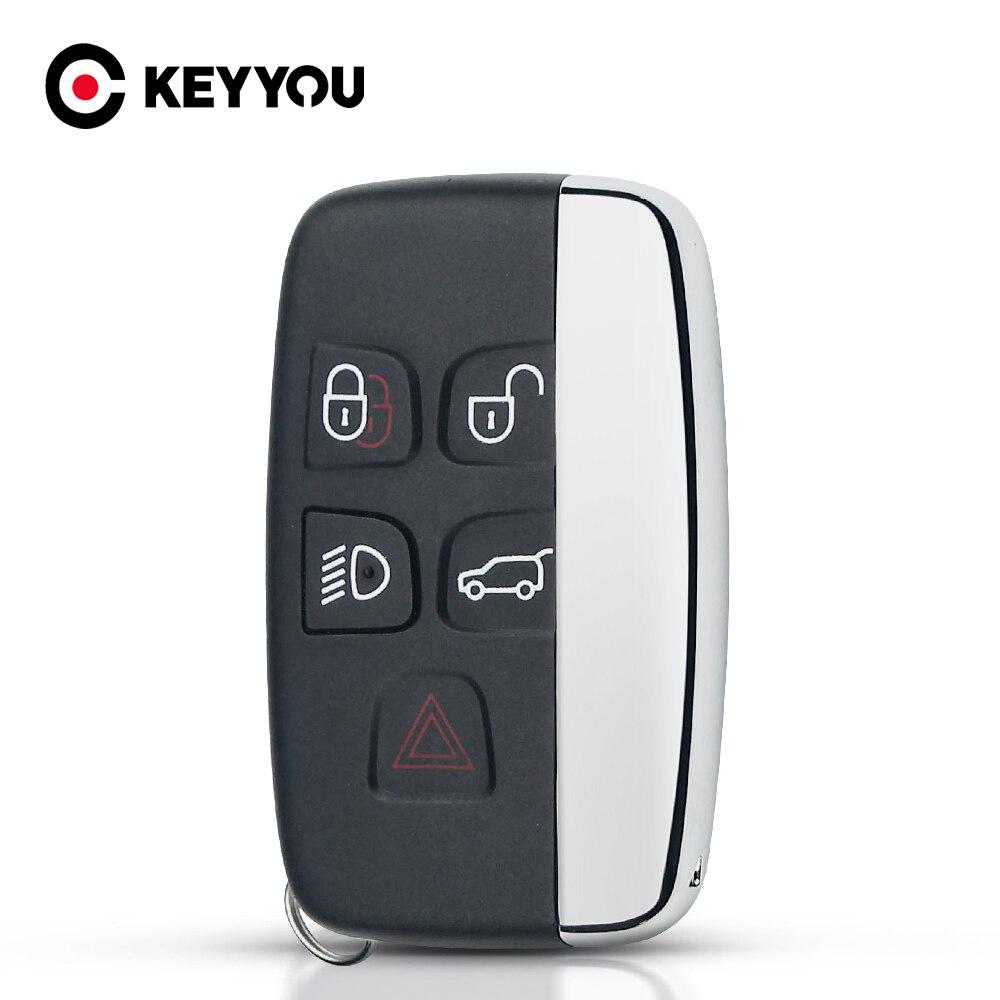 KEYYOU For Land Rover Ranger 4 Rover Evoque Discovery Freelander LR4 2010-15 Refit For Jaguar XE XFL Smart Remote Key Fob Case