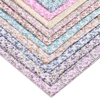 100150cm pastoral floral twill polyester fabric sewing diy childrens wear cloth make bedding quilt decoration home