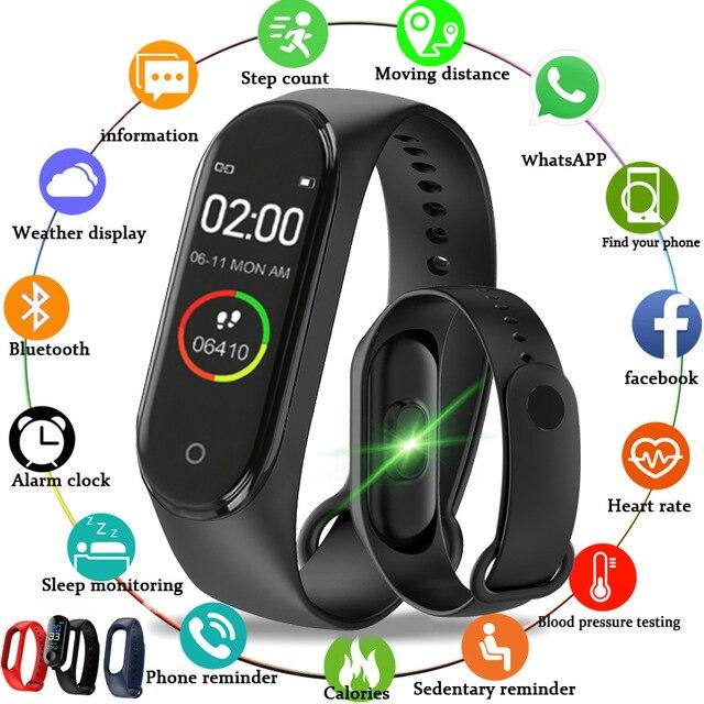 2021 Смарт-часы Xiaomi, Bluetooth, мужские и женские умные часы, кровяное давление, пульсометр, фитнес-браслет для iPhone, Xiaomi, Android