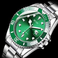 Design Brand Luxury Men Watches Automatic Black Watch Men Stainless Steel Waterproof Business Sport